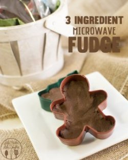 3 Ingredient Microwave Fudge - This delicious and creamy fudge is only 3 ingredients and is made in just a few minutes in a microwave!