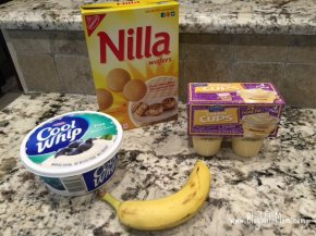 banana pudding ingredients