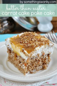 Carrot Cake Poke Cake | www.somethingswanky.com