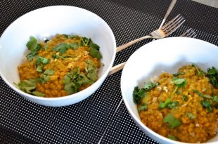 Coconut Red Lentil Dahl | Running on Real Food