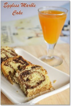 Eggless Marble Cake Recipe