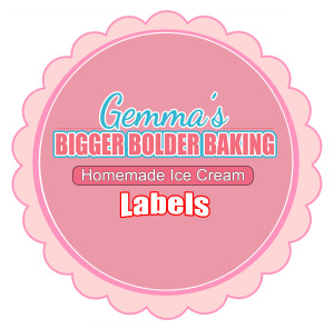 Homemade Ice Cream, Gemma Stafford, Bigger Bolder Baking, Recipes, No Machine, Ice cream labels, easy, fun