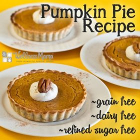 Pumpkin Pie Recipe Grain free Dairy Free Sugar Free