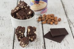 Recipe for Homemade Microwave Chocolate Fudge with Nuts