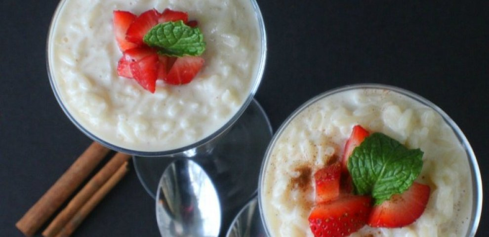 Creamy rice Pudding recipe with condensed milk