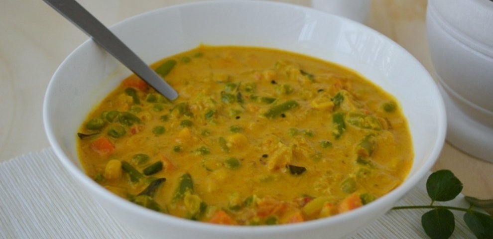 Vegetarian Korma recipe coconut milk