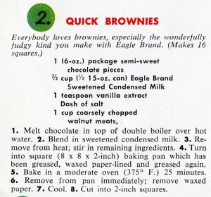 Brownies recipe using sweetened condensed milk