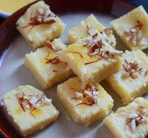 Coconut milk powder Burfi recipe