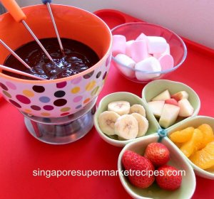 Milk chocolate Fondue recipe for kids