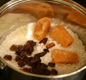 Recipe for Sago Pudding with coconut milk
