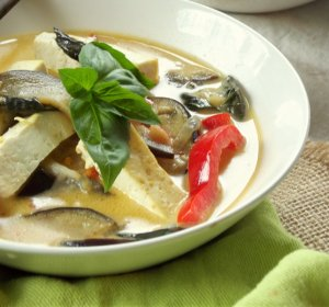 Thai curry Tofu recipe coconut milk